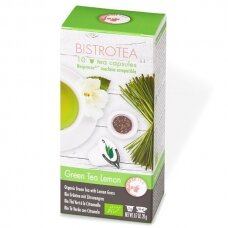 "Arbatos kapsulės Bistrotea Nespresso ""Green Tea Lemon"""