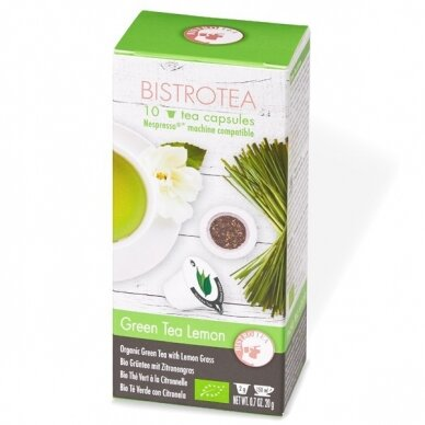 """Arbatos kapsulės Bistrotea Nespresso """"Green Tea Lemon"""""""