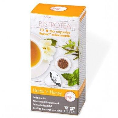 "Arbatos kapsulės Bistrotea Nespresso ""Herbs'n Honey"""