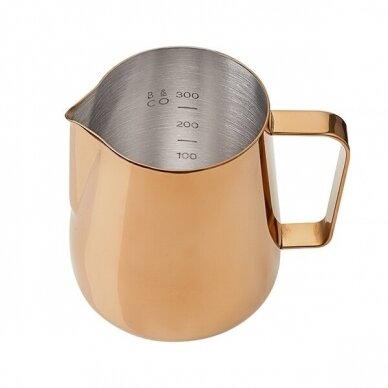 "Ąsotis pienui Barista & Co ""Rose Brass"" 420ml 2"