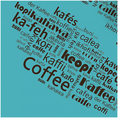Ištark žodelį 'Kava' 20-čia skirtingų kalbų.