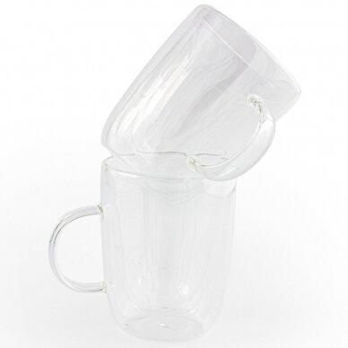 """Dvigubo stiklo puodeliai Amber Chef """"Arbatos"""" 300ml 2vnt"""