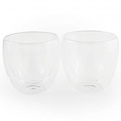 "Dvigubo stiklo stiklinės Amber Chef ""Cappuccino"" 300ml 2vnt 3"
