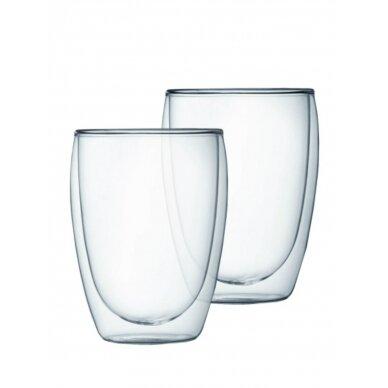 "Dvigubo stiklo stiklinės Amber Chef ""Cappuccino"" 350ml 2vnt"