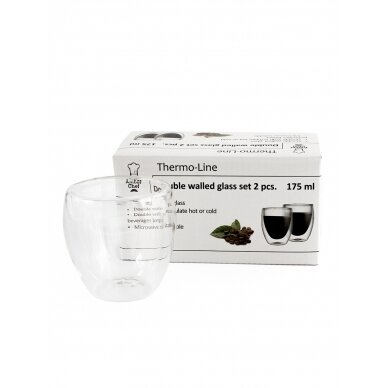 "Dvigubo stiklo stiklinės Amber Chef ""Kavos"" 175ml 2vnt 2"