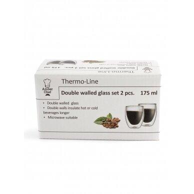 "Dvigubo stiklo stiklinės Amber Chef ""Kavos"" 175ml 2vnt 3"