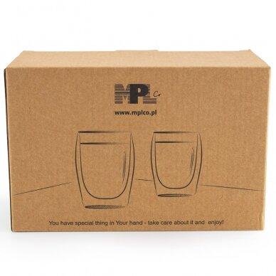 "Dvigubo stiklo stiklinės MPL ""Cappuccino"" 300ml 2vnt 3"