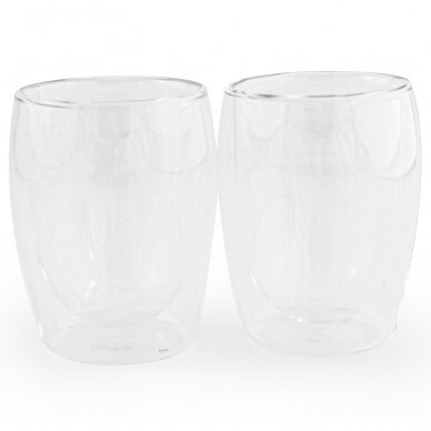 "Dvigubo stiklo stiklinės MPL ""Cappuccino"" 300ml 2vnt"