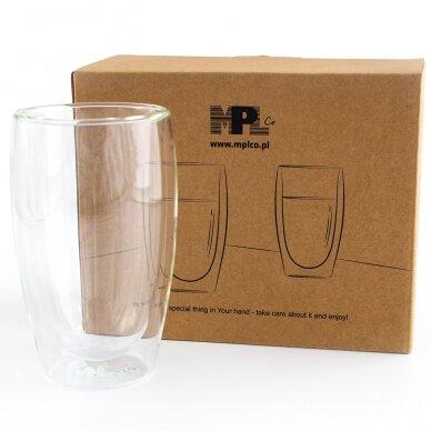"""Dvigubo stiklo stiklinės MPL """"Latte"""" 350ml 2vnt 2"""