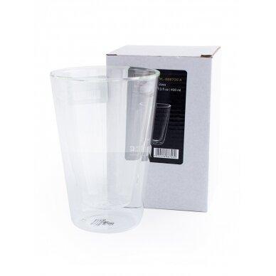 Dvigubo stiklo stiklinės Wilmax 400ml 1vnt 2