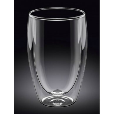 Dvigubo stiklo stiklinės Wilmax 400ml 1vnt