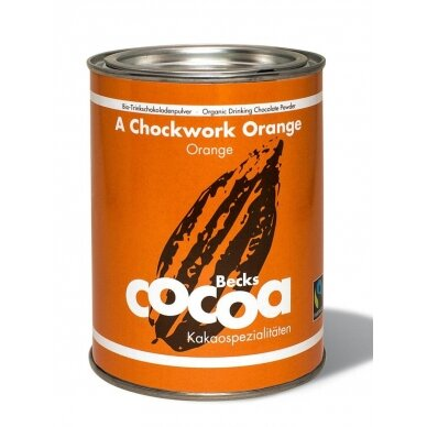 "Ekologiška kakava Becks Cacao ""A Chockwork Orange"" 250 g."