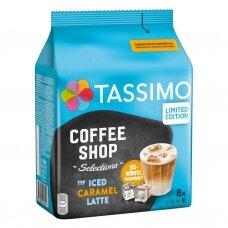 """Šaltos kavos kapsulės Tassimo """"Coffee Shop Selections Iced Caramel Latte"""" 16 kap."""