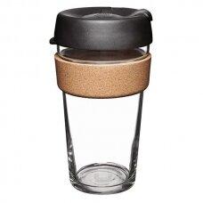 """Kavos puodelis KeepCup """"Cork Black"""", 454ml"""