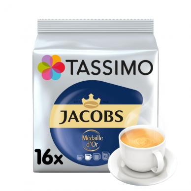 "Kavos kapsulės Jacobs Tassimo ""Medaille D'Or"" 16 kap."