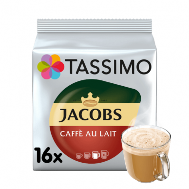 "Kavos kapsulės Jacobs Tassimo ""Cafe au Lait"" 16 kap."