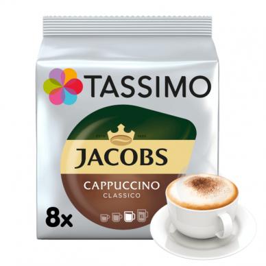 "Kavos kapsulės Jacobs Tassimo ""Cappuccino Classico"" 16 kap."