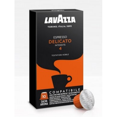 "Kavos kapsulės Lavazza Nespresso ""Delicato"" 10vnt."
