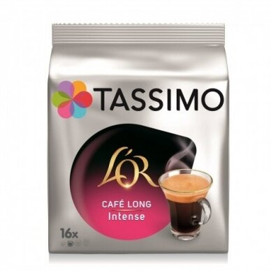 "Kavos kapsulės L'OR Tassimo ""Cafe Long Intense"" 16 kap."