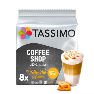 "Kavos kapsulės Tassimo ""Coffee Shop Selections Toffee Nut Latte"" 16 kap."
