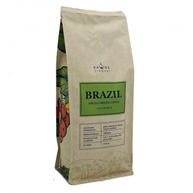 "Kavos Pupelės ""Brazil Single Origin"" 1kg."