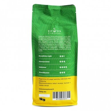 "Kavos pupelės ""Brazil Yellow Bourbon Fazenda Rainha"" 1kg. 3"