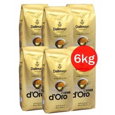 "Kavos pupelės Dallmayr ""CREMA d'Oro"" 6kg"
