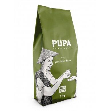"""Kavos pupelės Kavos Bankas """"Pupa Idealiai pieniškai kavai"""" 1kg"""