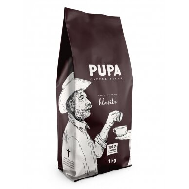 "Kavos pupelės Kavos Bankas ""Pupa Klasika"" 1kg"