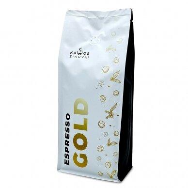 """Kavos pupelės Kavos Žinovai """"Espresso GOLD"""" 1kg 3"""