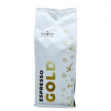 """Kavos pupelės Kavos Žinovai """"Espresso GOLD"""" 1kg 2"""