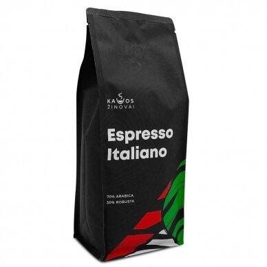 """Kavos pupelės Kavos Žinovai """"Espresso Italiano"""" 1kg."""