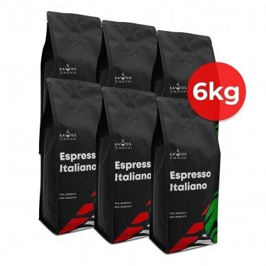 """Kavos pupelės Kavos Žinovai """"Espresso Italiano"""" 6kg"""