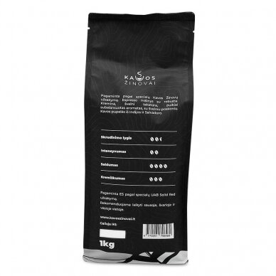 """Kavos pupelės Kavos Žinovai """"Original"""" 1kg 4"""