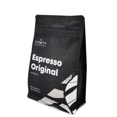 """Kavos pupelės Kavos Žinovai """"Original"""" 250g. 3"""
