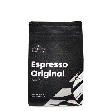 """Kavos pupelės Kavos Žinovai """"Original"""" 250g. 2"""