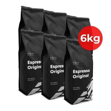 """Kavos pupelės Kavos Žinovai """"Original"""" 6kg"""