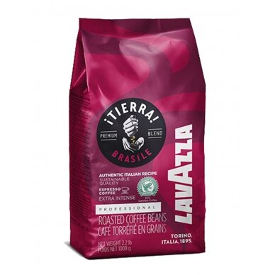 "Kavos pupelės Lavazza ""Tierra Brasile Extra Intense"" 1kg"