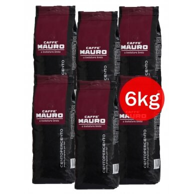 "Kavos pupelės Mauro ""CENTOPERCENTO"" 6kg"