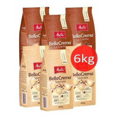 """Kavos pupelės Melitta """"BellaCrema 2x3"""" 6kg"""