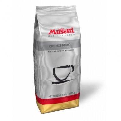 """Kavos pupelės Musetti """"Cremissimo"""" 1kg"""