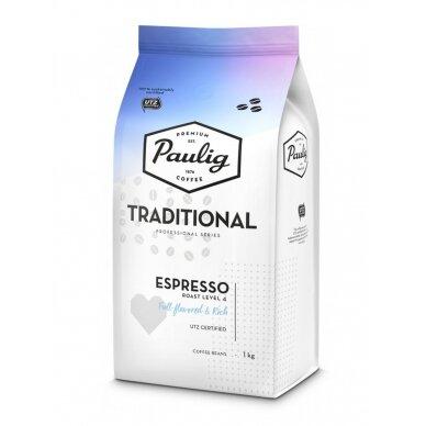 """Kavos pupelės Paulig """"Traditional Espresso"""" 1kg UTZ"""