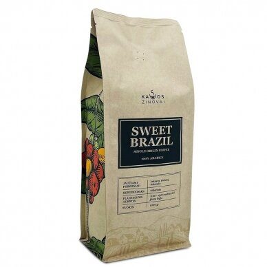 "Kavos Pupelės ""Sweet Brazil Single Origin"" 1kg."