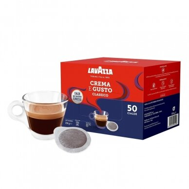 """Kavos tabletės E.S.E. LavAzza """"Crema e Gusto Classico"""" 50 tab."""