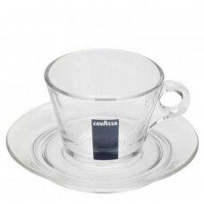 """LavAzza """"Cappuccino"""" stiklinis puodelis su polėkšte 160ml"""