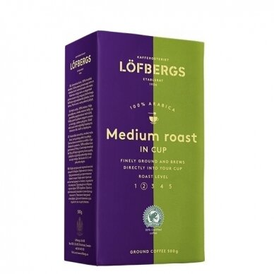 "Malta kava Lofbergs ""Medium Roast In Cup"" 500g."