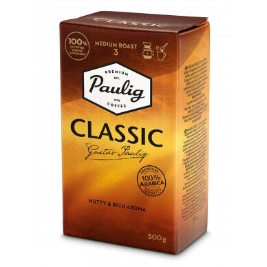 "Malta kava Paulig ""Classic"" 500g. (Galiojimas 2021.08.08)"