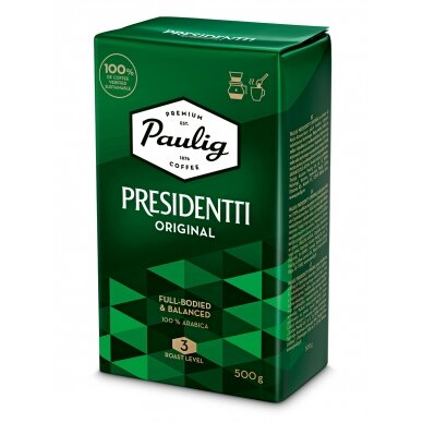 "Malta kava Paulig ""Presidentti Original"" 500g"