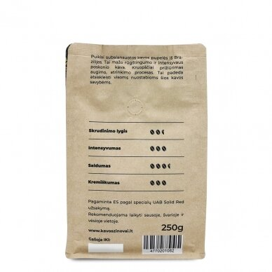"Malta kava ""Sweet Brazil Single Origin"" 250g. 4"