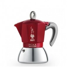 "Moka kavavirė Bialetti ""Moka Induction 4-cup Red"" 165ml"